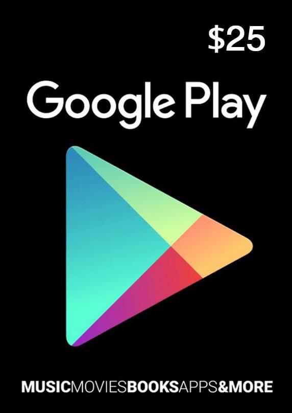 google play 25 usd sams store